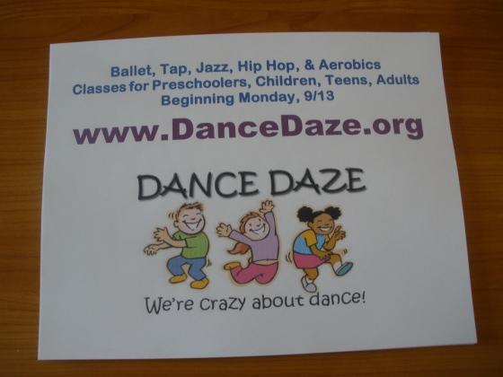 Dance Daze Flier